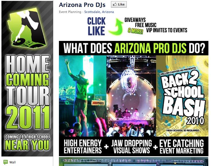 Arizona Pro DJs is a teen entertainment company based in Scottsdale, AZ.