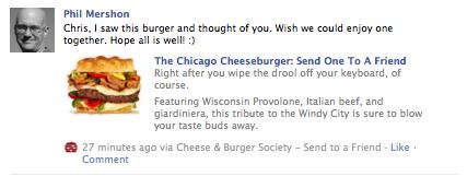 cheeseburger to chris