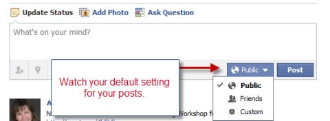 default settings for posts