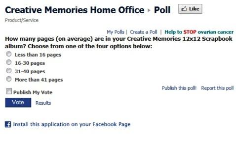 creative memories poll