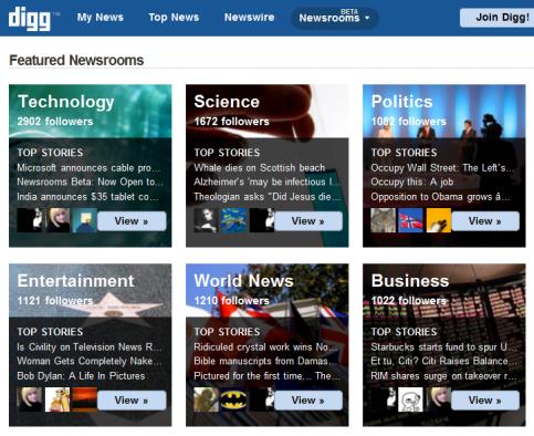 digg newsrooms