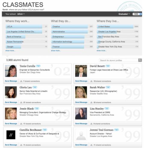 linkedin classmates