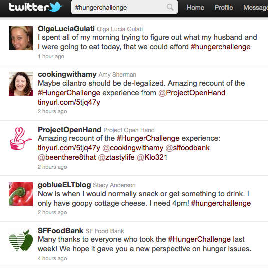 hunger challenge