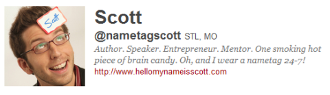scott the name tag guy