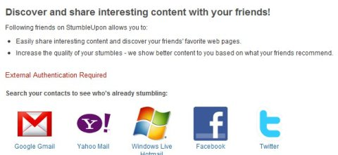 StumbleUpon Find Friends