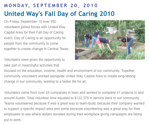 United Way blog story