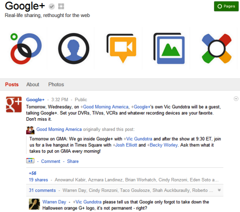 Google+ Pages - Google+