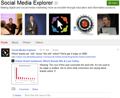Google+ Pages - Social Media Explorer