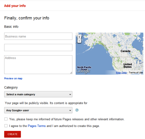 Google+ Pages - Local Businesses and Places