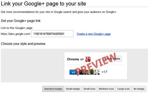 Google+ Seiten - Direktverbindung