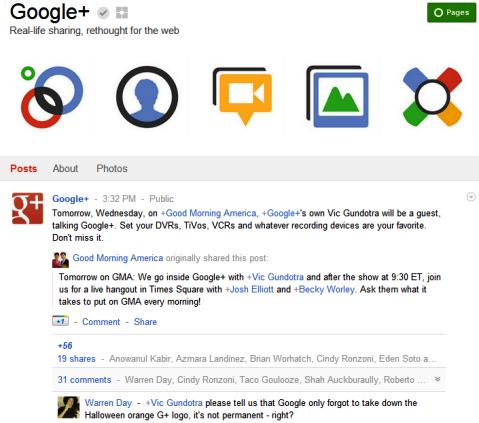 Google+ Seiten - Google+