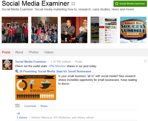 Google+ Pages - Social Media Examiner