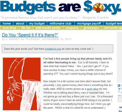 Budgets sind sexy
