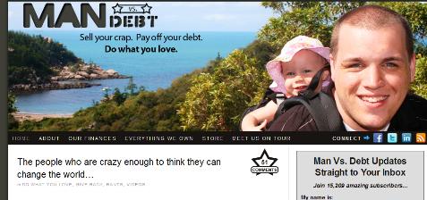 Mann gegen Schulden