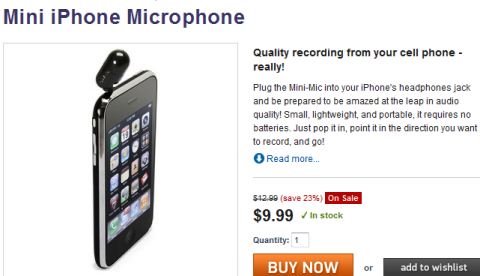 mini iphone microphone
