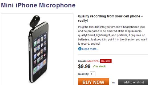mini iphone microphone