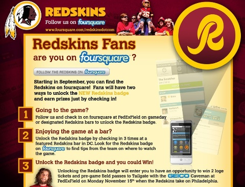 redskins page