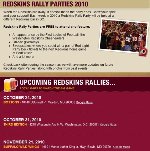 redskins rallies