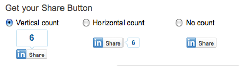 new linkedin share button