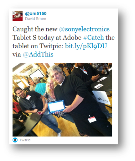 sony catch tablet adobe