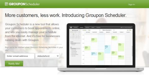 groupon scheduler