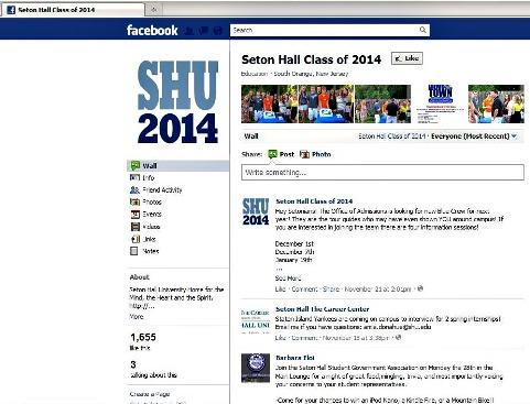 Class of 2014的Facebook頁面