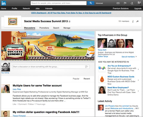 new look linkedin-groups