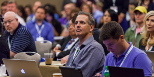 attendees during a session