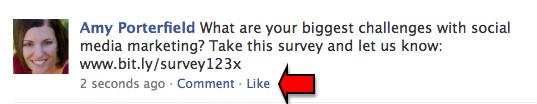 Facebook-Umfrage