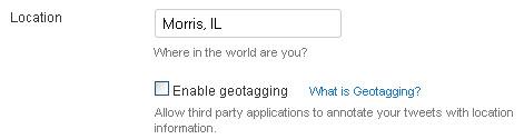 Twitter Geotagging