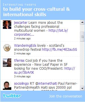 an example of a twitter widget