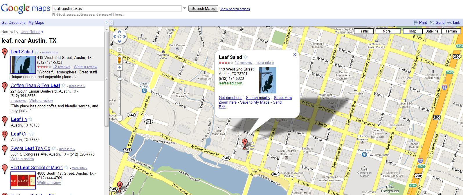 Foursquare Karte