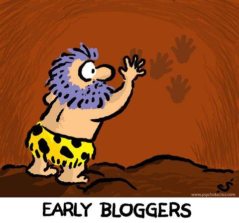 frühe Blogger Cartoon