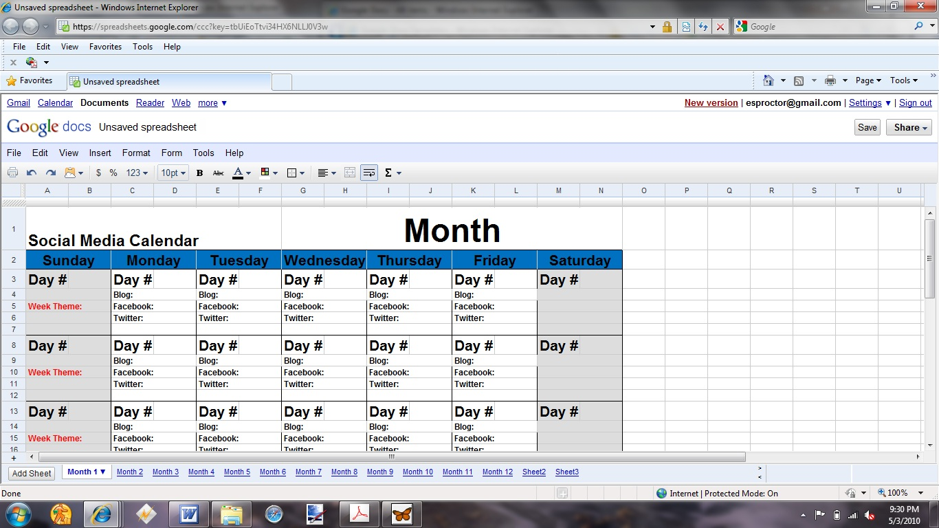 Social media planning calendar template new jobs 2015 for Social media plans template