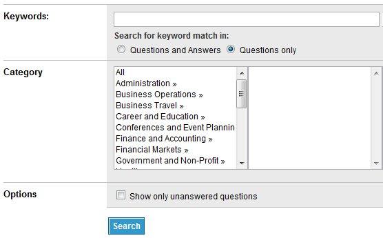LinkedIn Answers Advanced Search