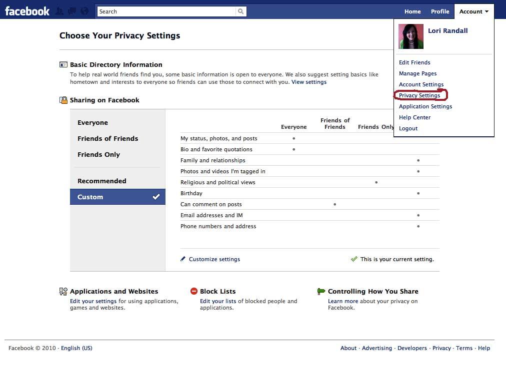 facebook master switch