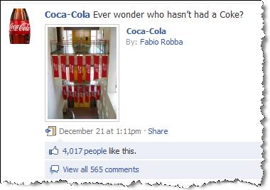 Coca-Cola auf Facebook