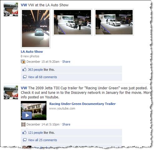 volkswagen auf facebook