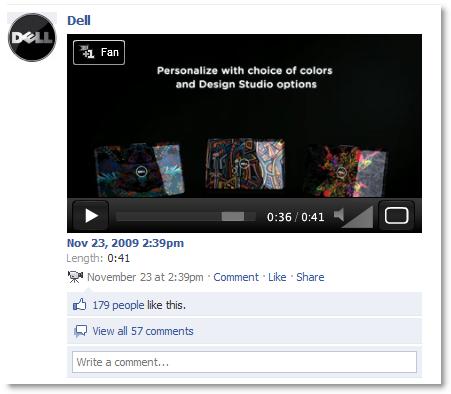 Dell auf Facebook