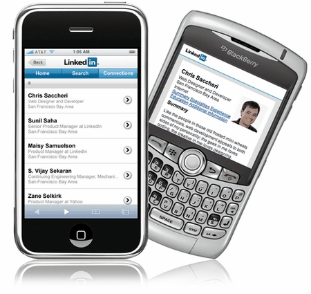 linkedin on blackberry