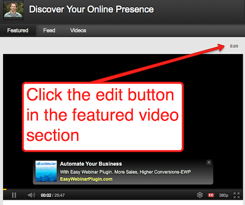 click edit feature button