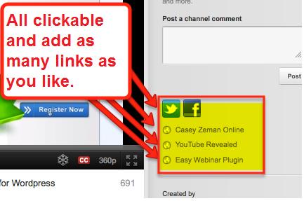 auf YouTube anklickbare Links