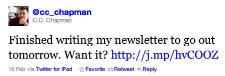 Verwenden von Twitter zur Förderung der E-Mail-Anmeldung