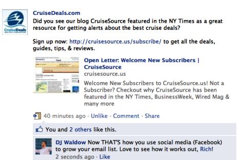 Verwenden von sozialen Medien zum Erweitern der E-Mail-Marketing-Liste