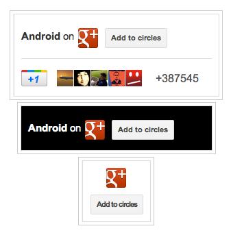 google+ page badges