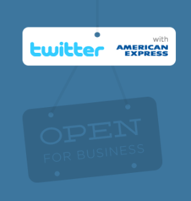 twitter partners with american express