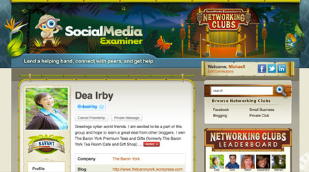 Social Media Examiner's Networking Clubs