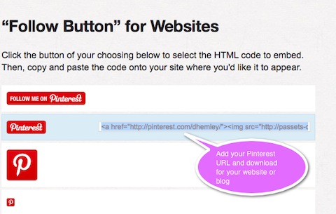 follow button for websites