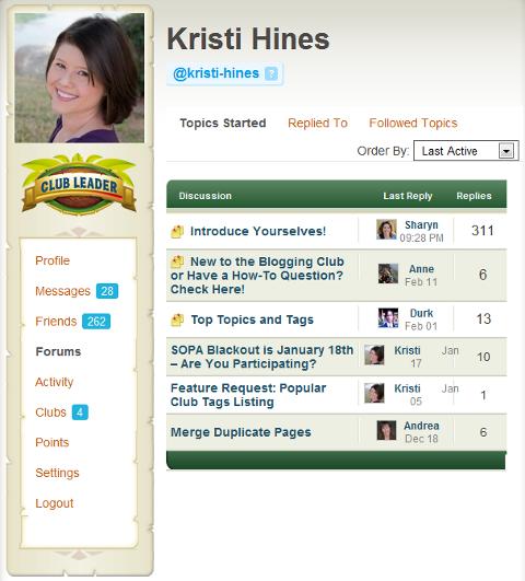 forums followed topics