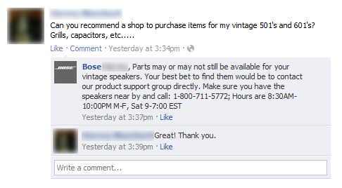 bose customer service
